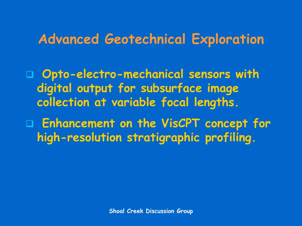 Advanced Geotechnical Exploration