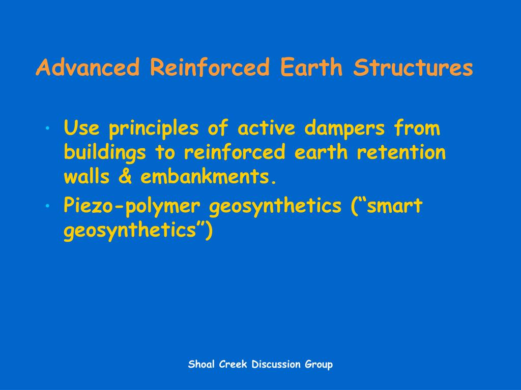 Advanced Reinforced Earth Structures