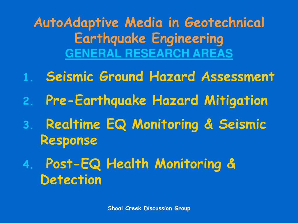 AutoAdaptive Media in Geotechnical Earthquake Engineering