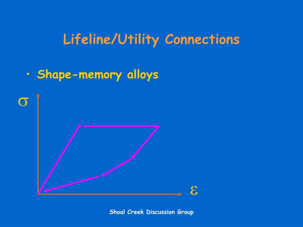 Lifeline/Utility Connections