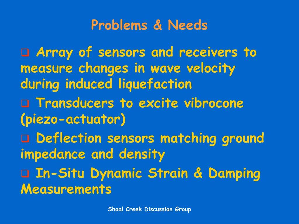 Problems & Needs
