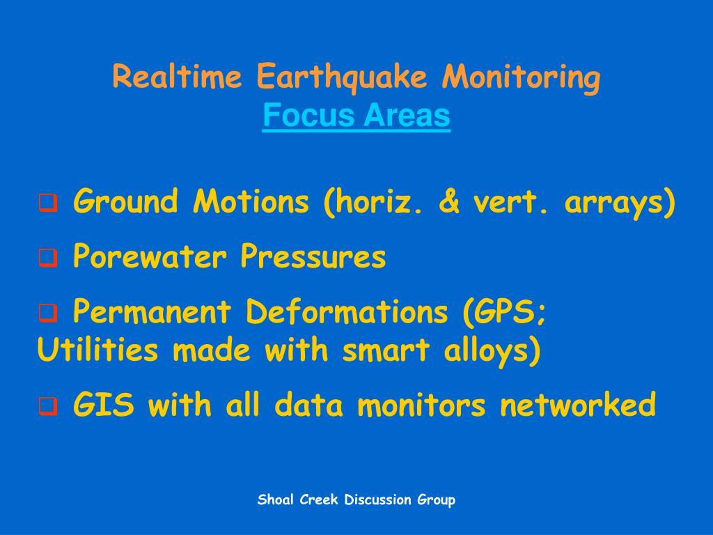 Realtime Earthquake Monitoring