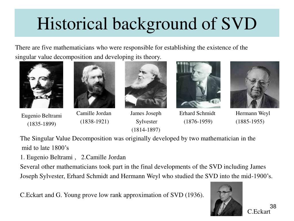 Historical background of SVD