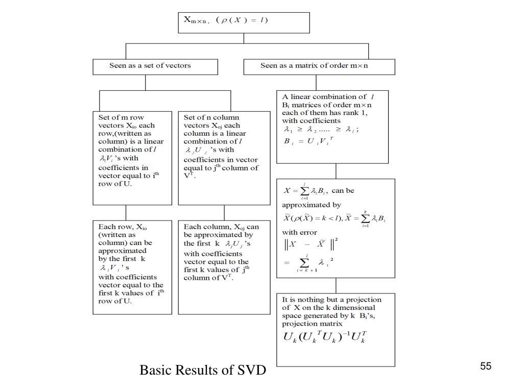 Basic Results of SVD