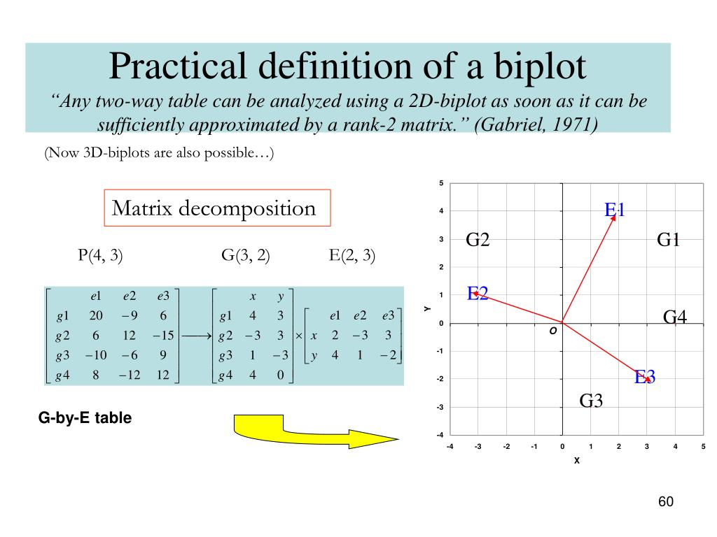 Practical definition of a biplot