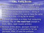 fas fatty acids