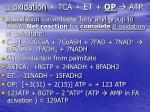 oxidation tca et op atp