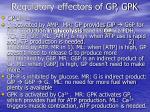 regulatory effectors of gp gpk