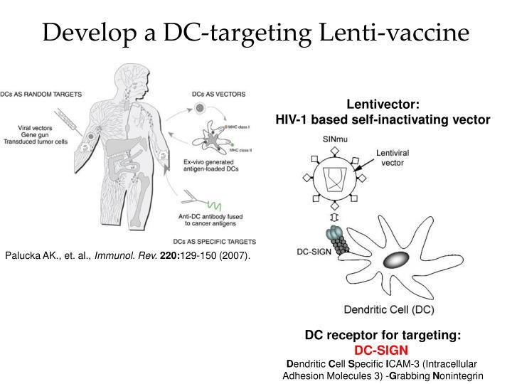 Develop a dc targeting lenti vaccine