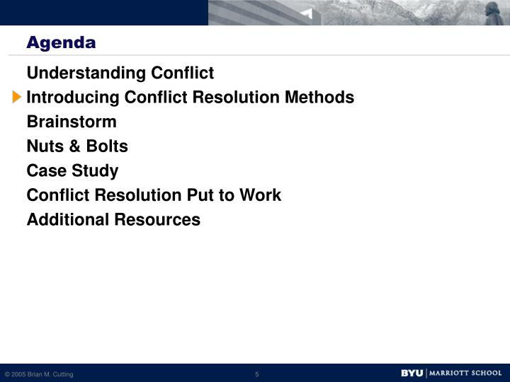conflict resolution case study Introduction: case study analysis on building a coalition in order for a project to be successful in an organization it should form a diverse team to head it up resolution process possibly allowing the group to not follow this conflict resolution process and getting stuck by their oppositions delaying the.