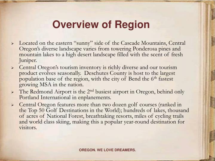 Overview of region