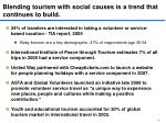 blending tourism with social causes is a trend that continues to build