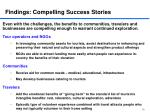 findings compelling success stories
