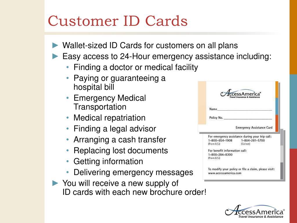 Customer ID Cards