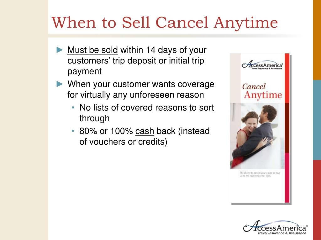 When to Sell Cancel Anytime