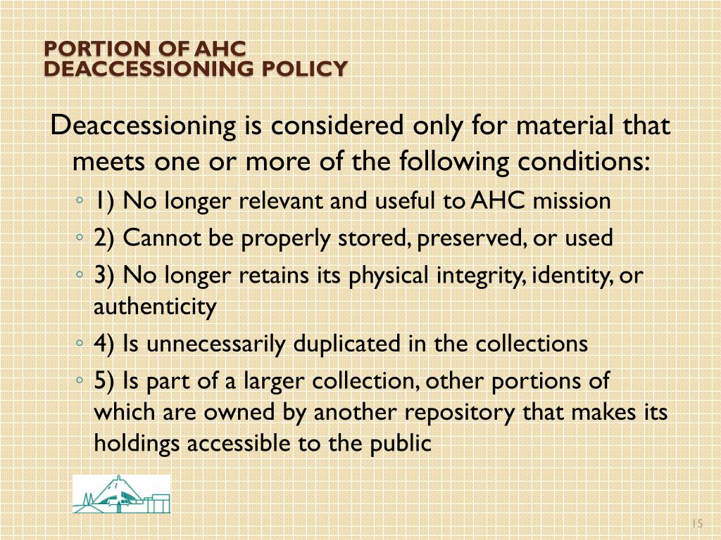 Portion of AHC