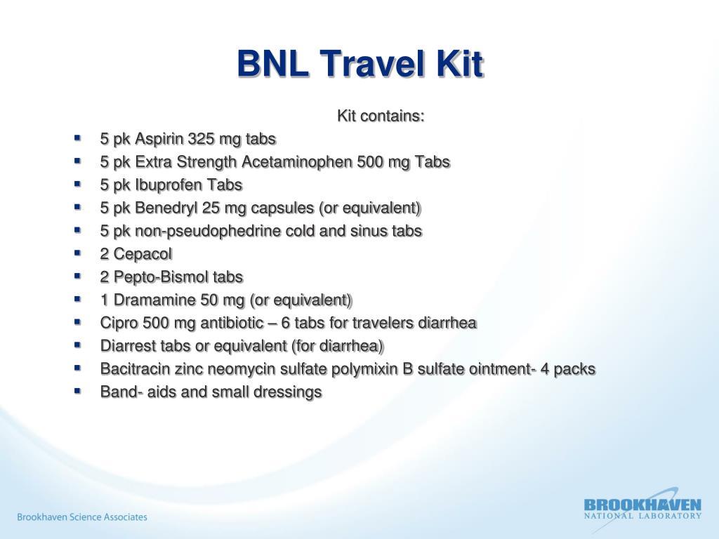 BNL Travel Kit