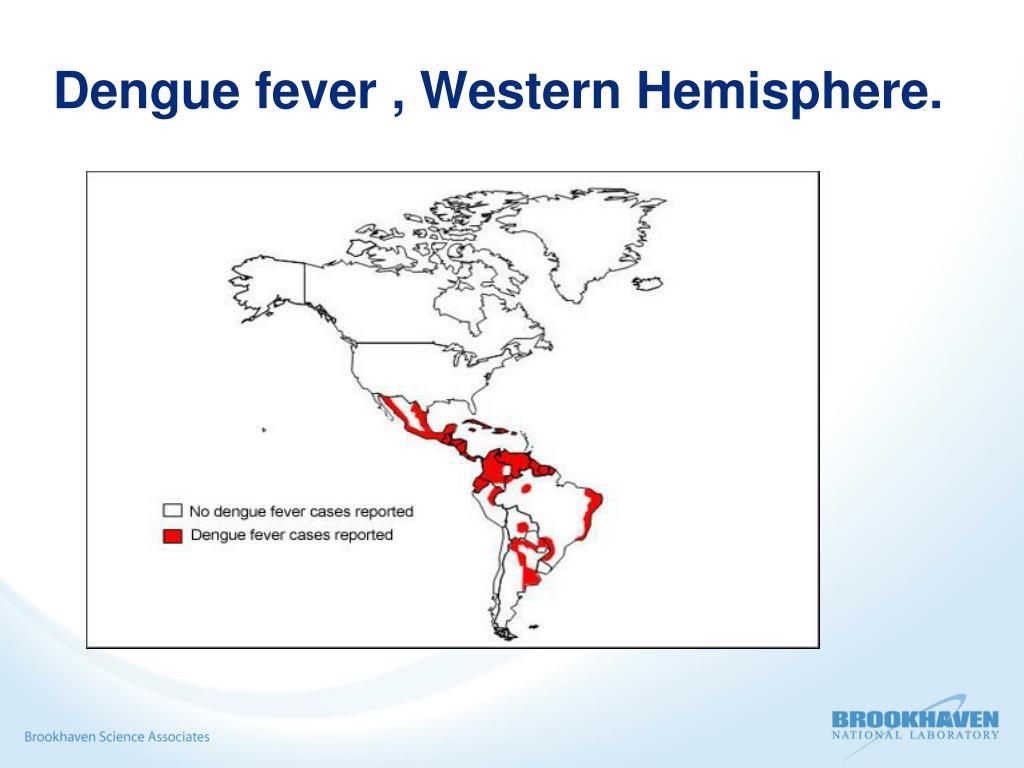 Dengue fever , Western Hemisphere.
