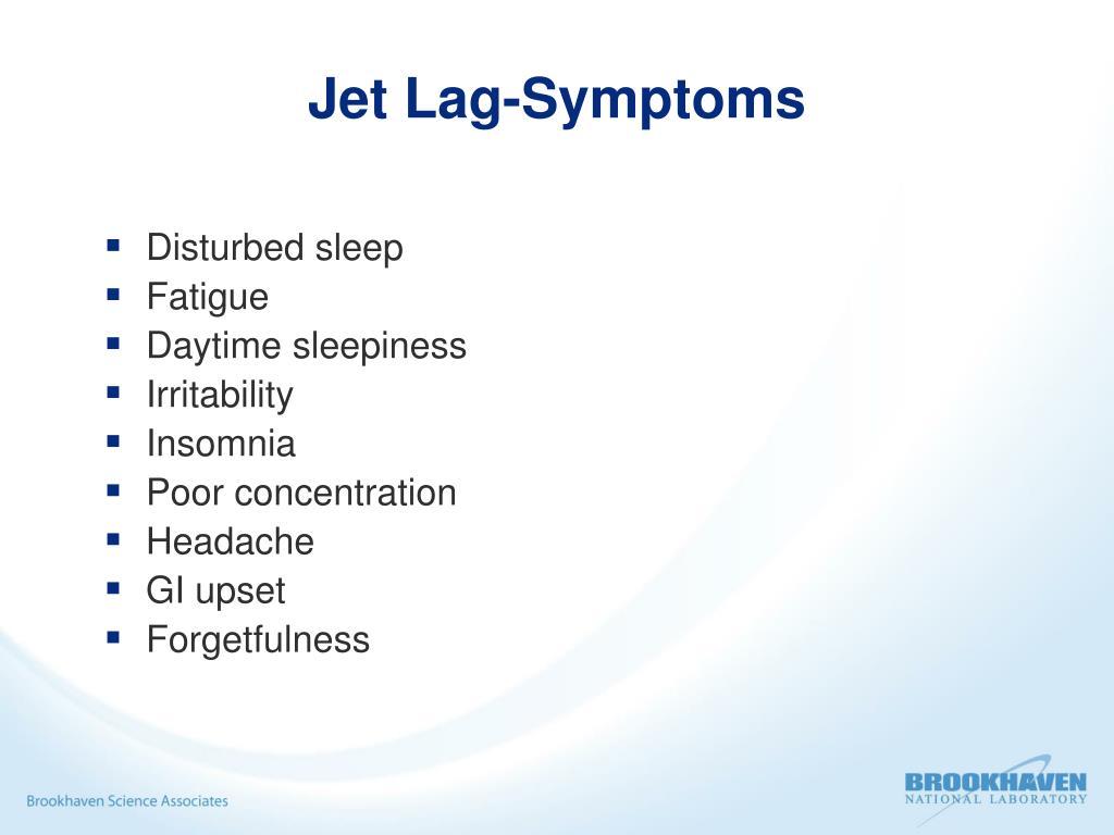 Jet Lag-Symptoms