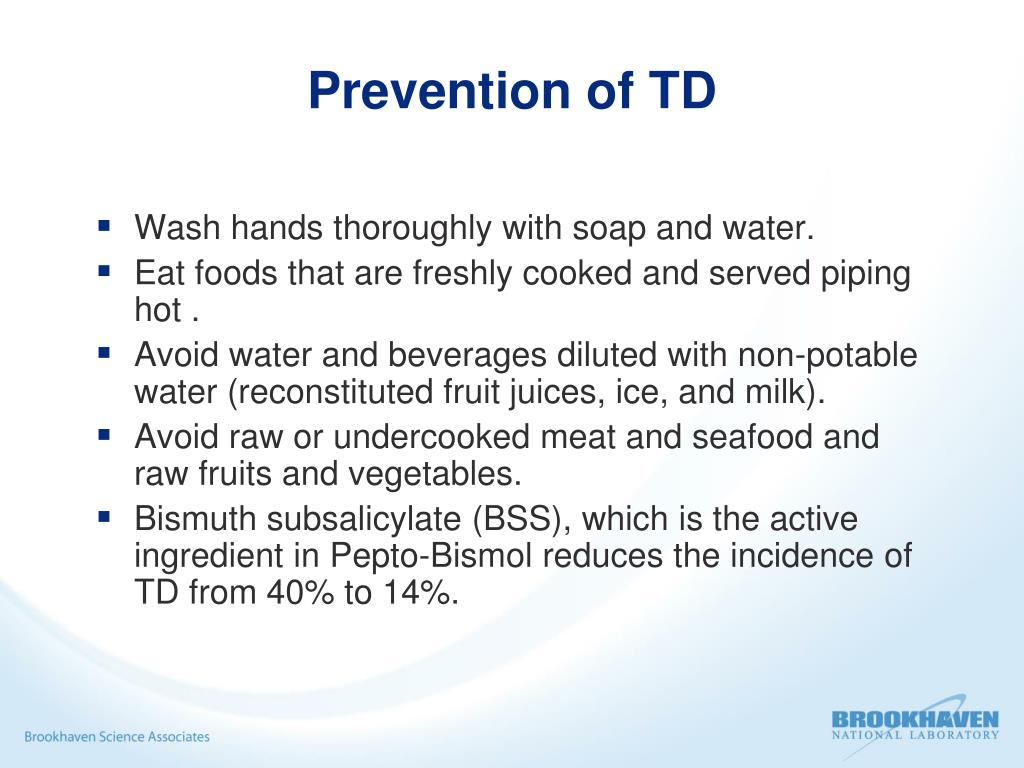 Prevention of TD