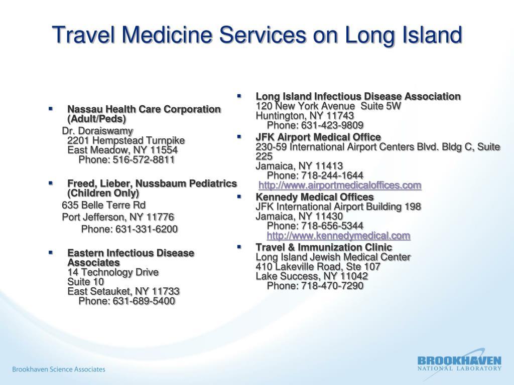 Travel Medicine Services on Long Island
