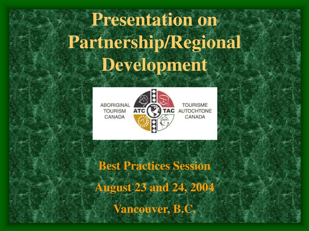 presentation on partnership regional development l.
