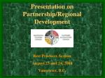 presentation on partnership regional development