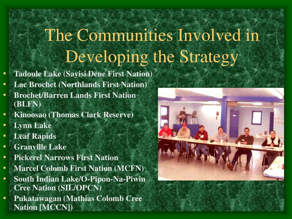 The Communities Involved in Developing the Strategy
