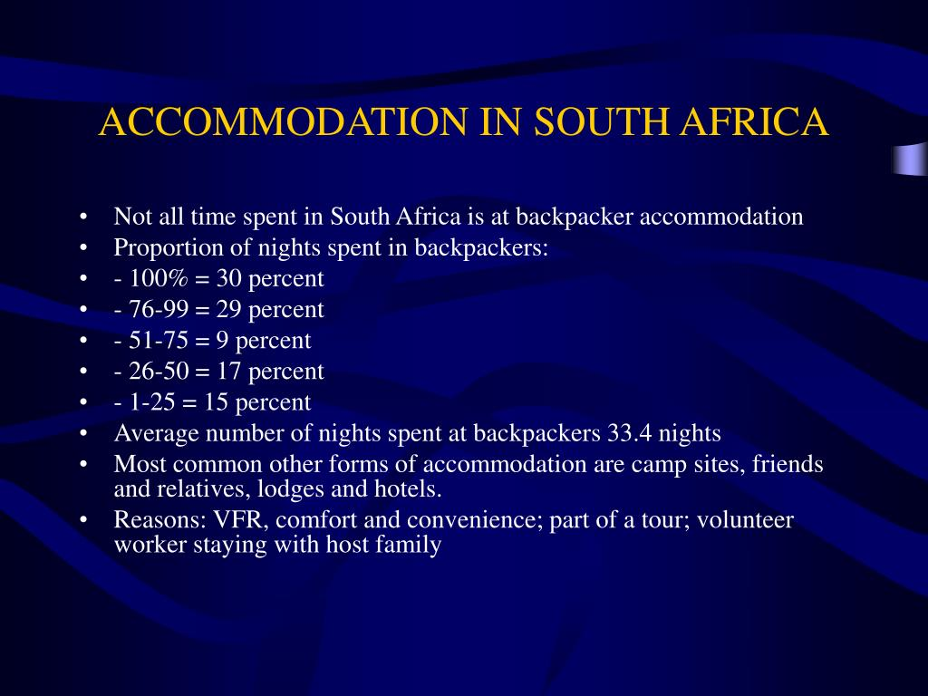 ACCOMMODATION IN SOUTH AFRICA