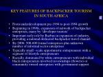 key features of backpacker tourism in south africa