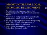 opportunities for local economic development