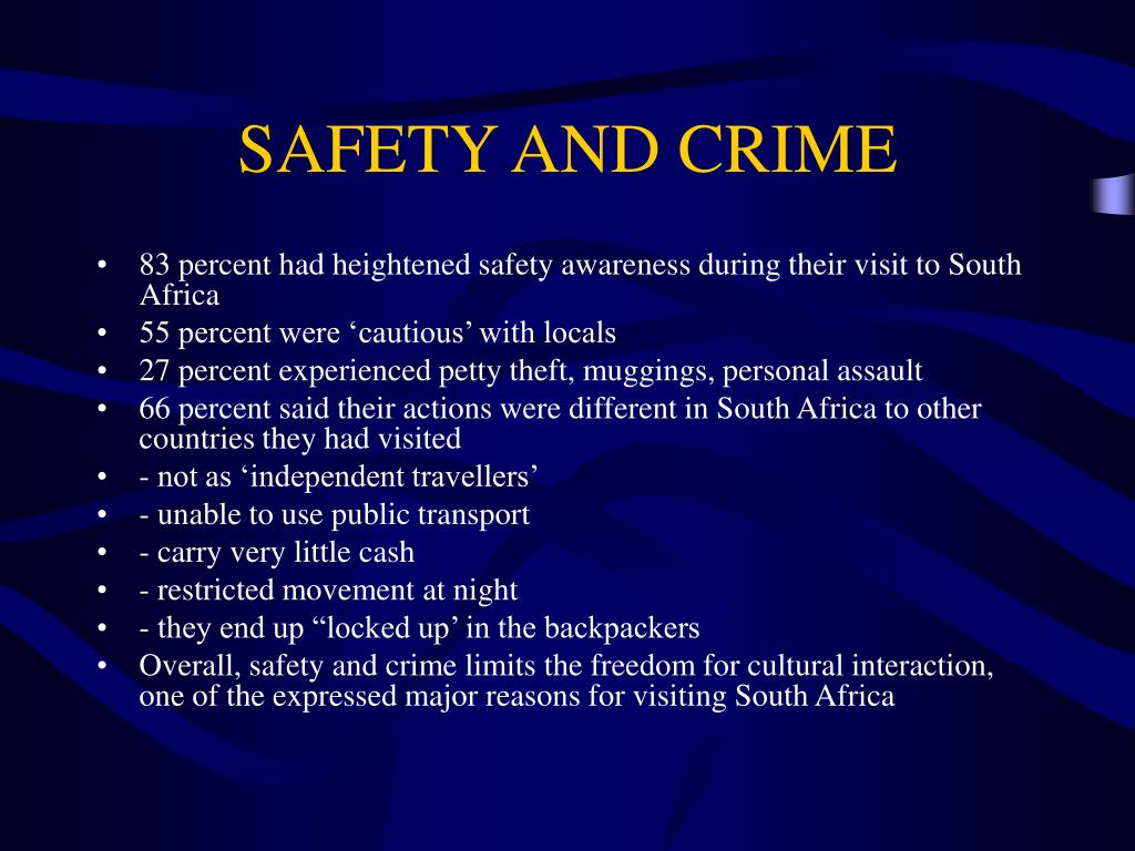 SAFETY AND CRIME