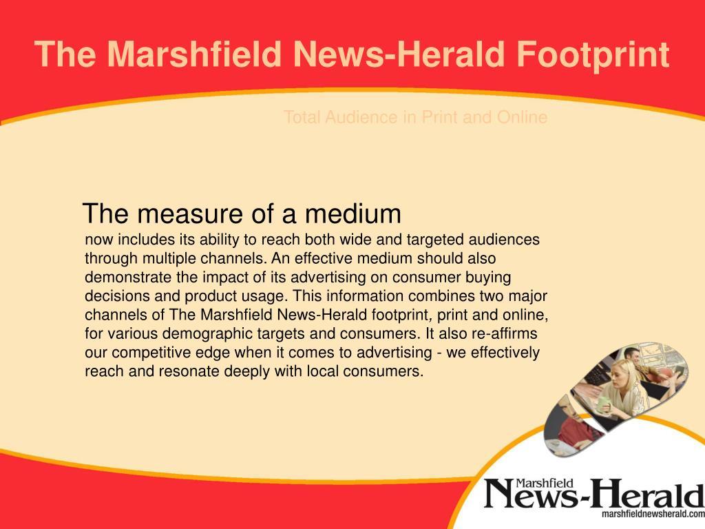 The Marshfield News-Herald Footprint