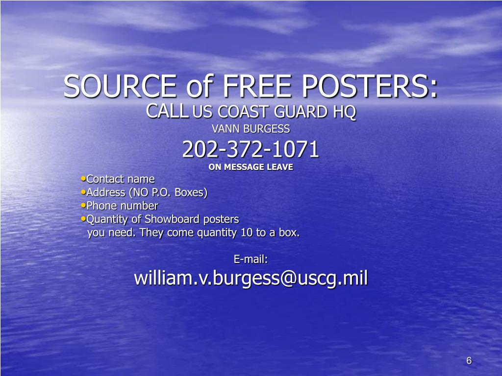 SOURCE of FREE POSTERS: