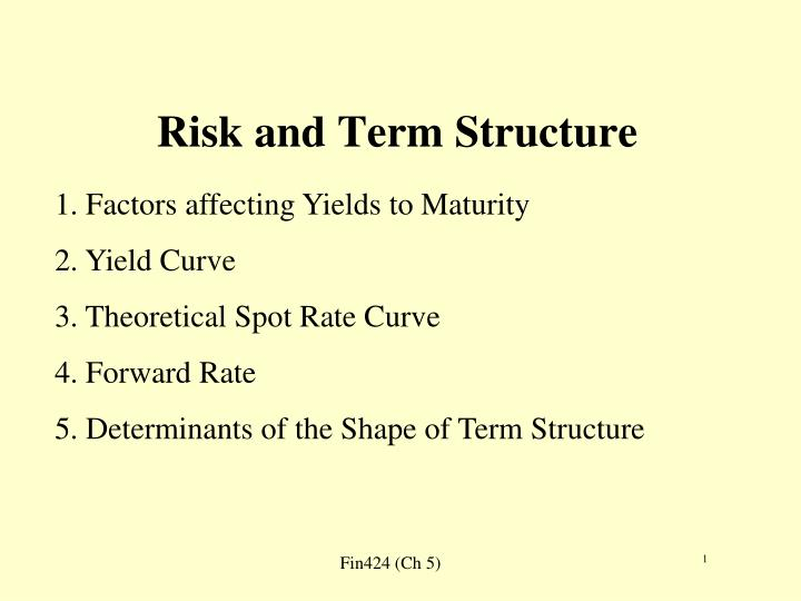 risk and term structure n.