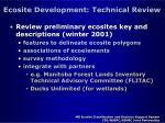 ecosite development technical review