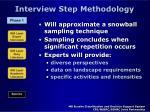 interview step methodology