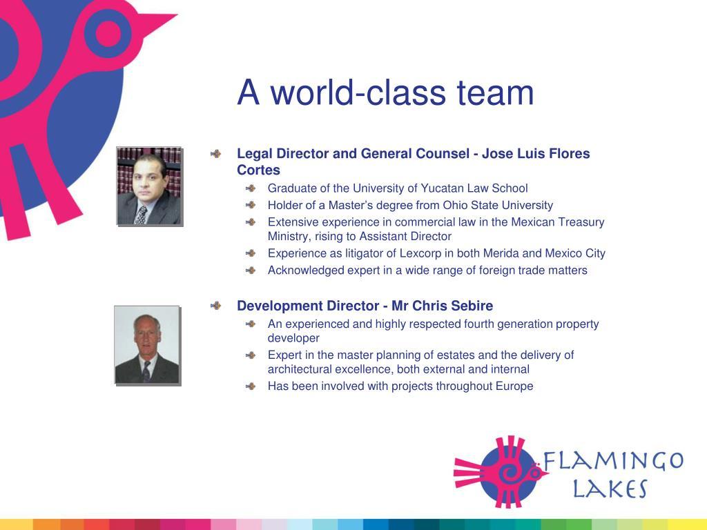 A world-class team