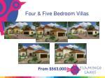 four five bedroom villas