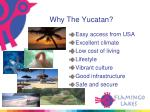 why the yucatan