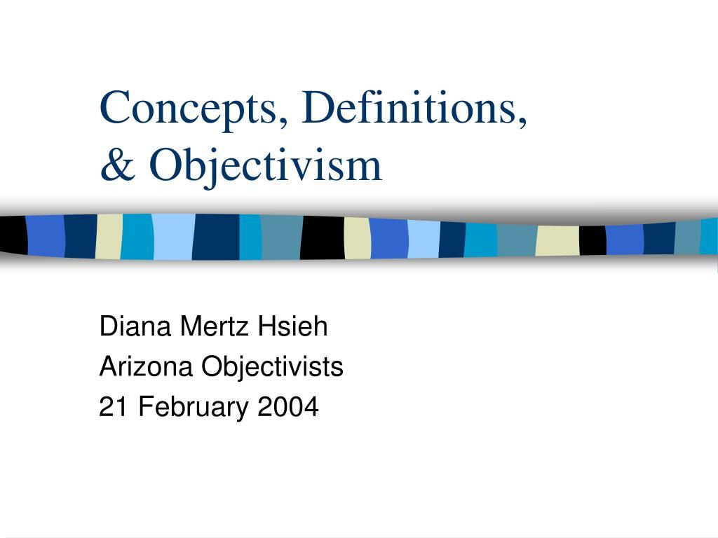 concepts definitions objectivism l.