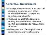 conceptual reductionism