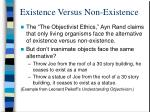existence versus non existence