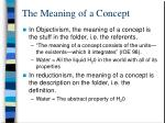 the meaning of a concept
