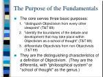 the purpose of the fundamentals