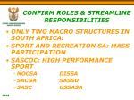 confirm roles streamline responsibilities