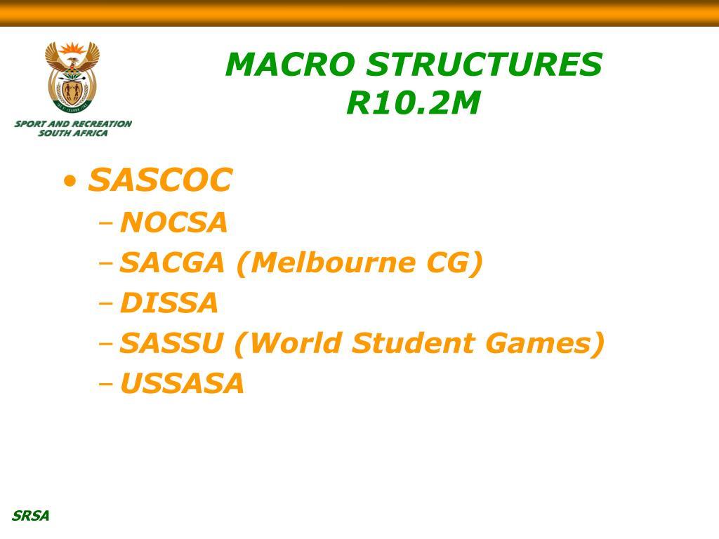 MACRO STRUCTURES