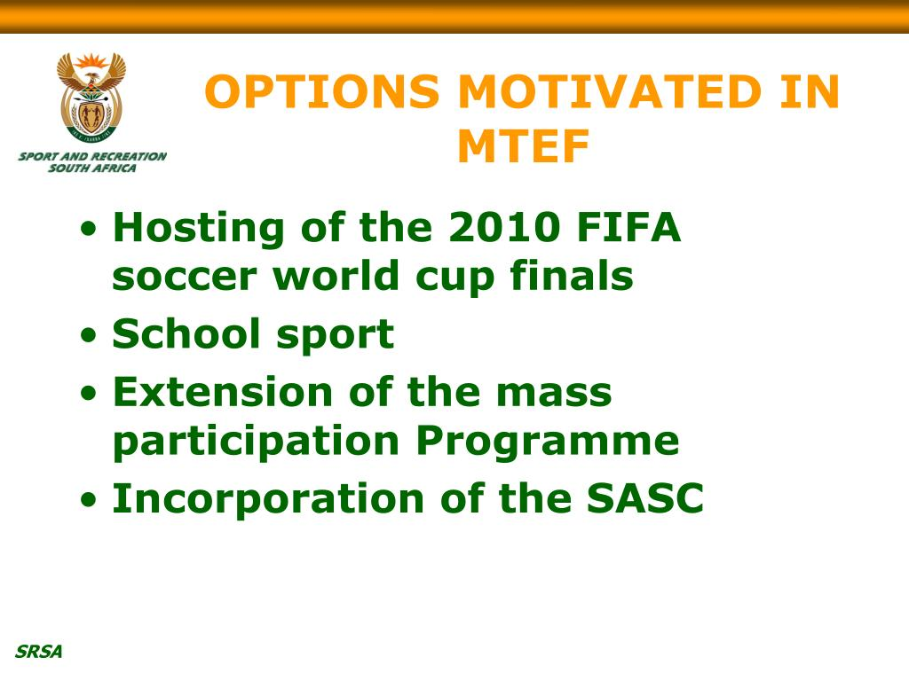 OPTIONS MOTIVATED IN MTEF