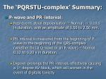 the pqrstu complex summary