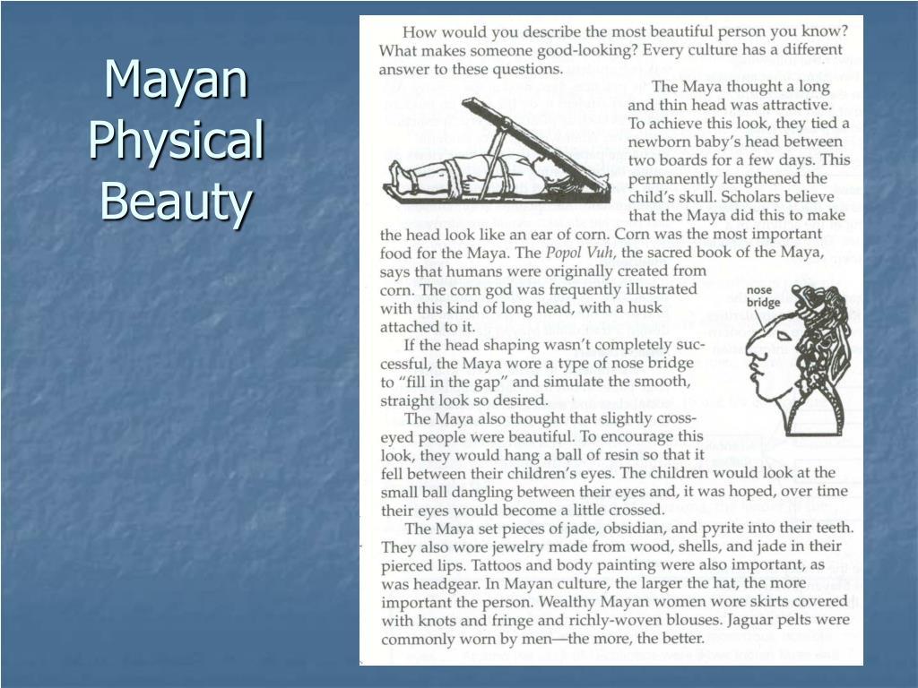 Mayan Physical Beauty